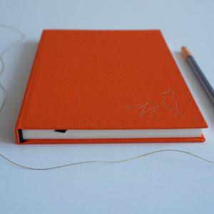 NOTES A5 W KROPKI (pomarańczowy wilk)