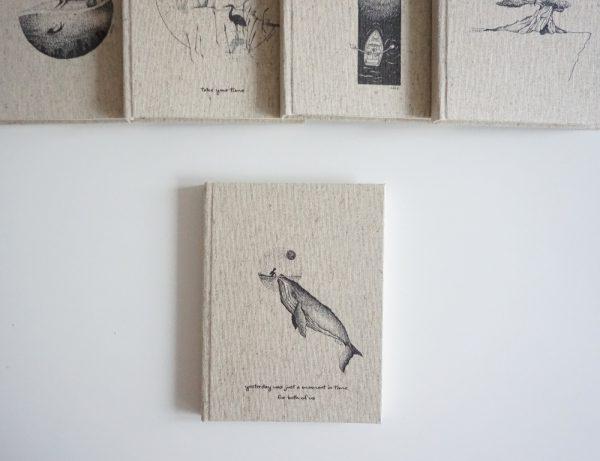 Notes A5 W LINIĘ (Jaczi #wieloryb)