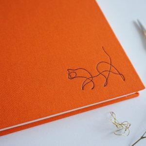NOTES A5 GŁADKI (kot pomarańczowy)